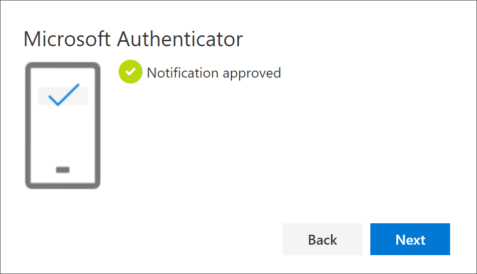 Success notification, connecting the app and your account