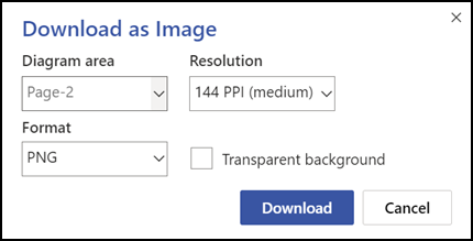 The Download As Image options.