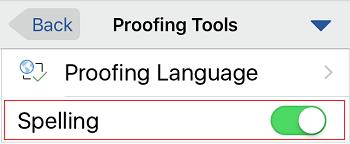 Spelling control