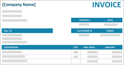 Conceptual image of a small business invoice