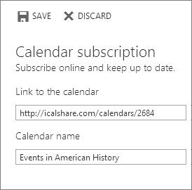 Link to a calendar online
