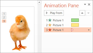 Apply multiple animation effects to one object - PowerPoint
