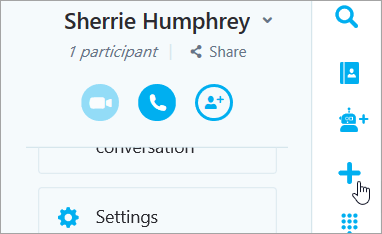 A screenshot of the New chat button
