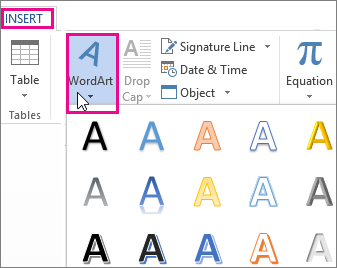 Curve text around a circle or other shape - Office Support