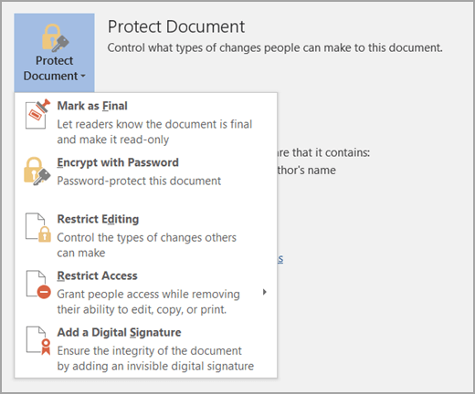 Protect document