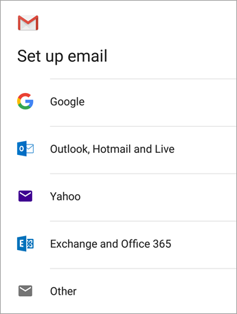 how to change default email on android