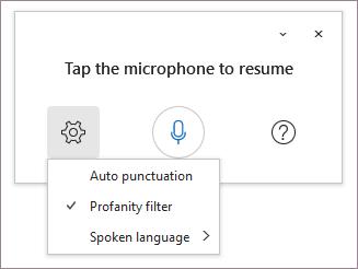 Profanity filter selected