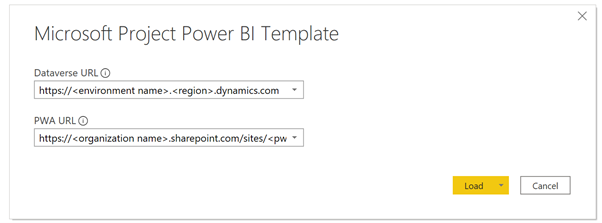 Microsoft Project Power BI Template