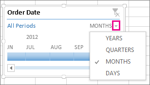 Create a PivotTable timeline to filter dates - Office Support