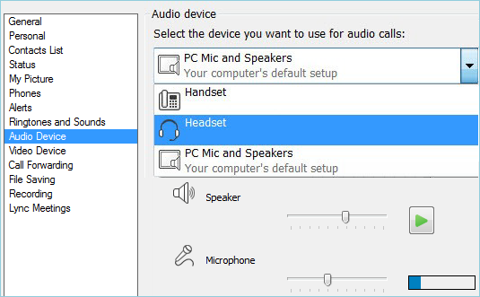 Set up and test Lync audio - Office Support