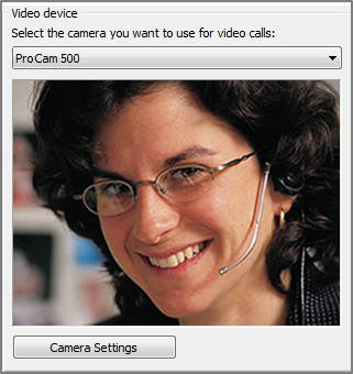 screen shot of video options