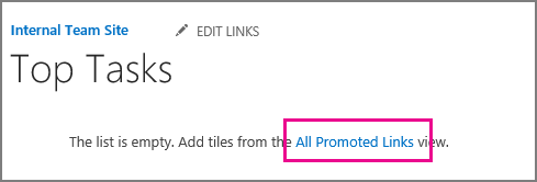An image of the Promoted Links app.