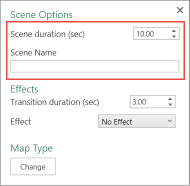 Control for Scene Duration
