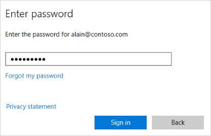 Enter password screen