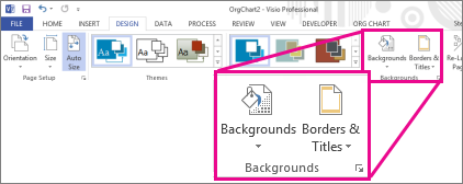 Backgrounds group in Visio