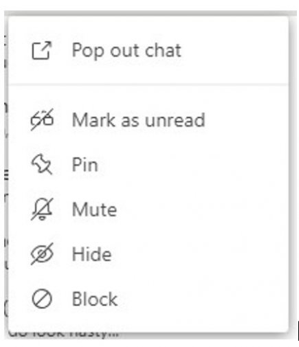 Blocking a Skype user in Microsoft Teams