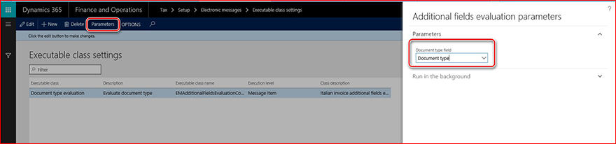 This image shows you how to setup the Electronic Messages functionality.