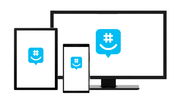 Illustration of GroupMe on mobile, tablet and desktop