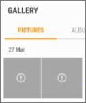 An encrypted image file in the Gallery app.