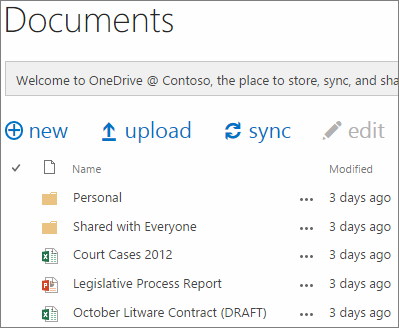 see OneDrive for business documents