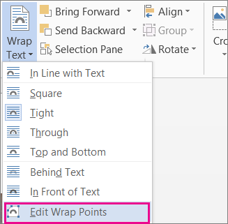 Edit Wrap Points
