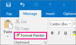 Shows Format Painter button in a new message in Outlook