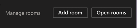 Open rooms button
