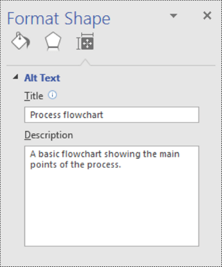 Format shape dialog in Visio.