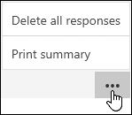 Delete response and Print response options