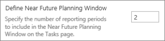 Define Near Future Planning Window
