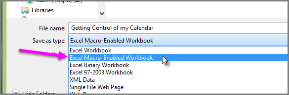 Save as Macro-enabled workbook