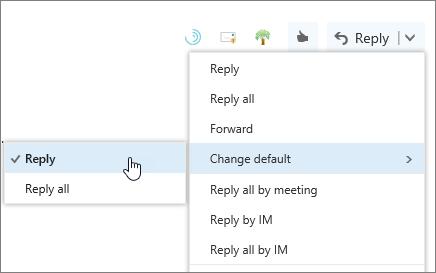 A screenshot of the Change default button.