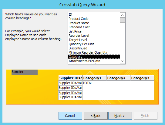 Make summary data easier to read by using a crosstab query - Access
