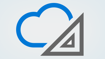 Cloud and architecture symbols