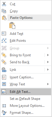Word Win32 Edit Alt Text menu for shapes