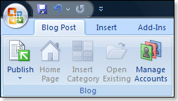 the blog post tab