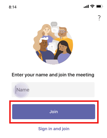 Join a Bookings appointment via Teams on mobile