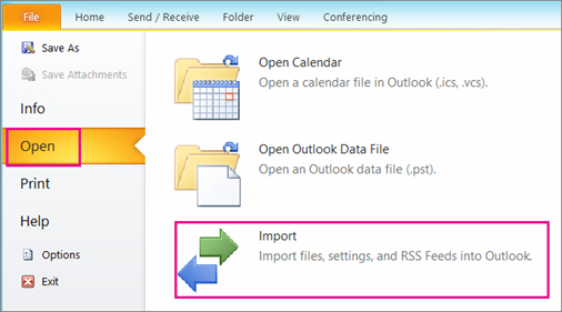 Import contacts to Outlook - Office Support