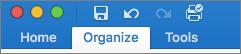 organize tab