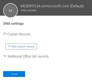 Select DNS settings