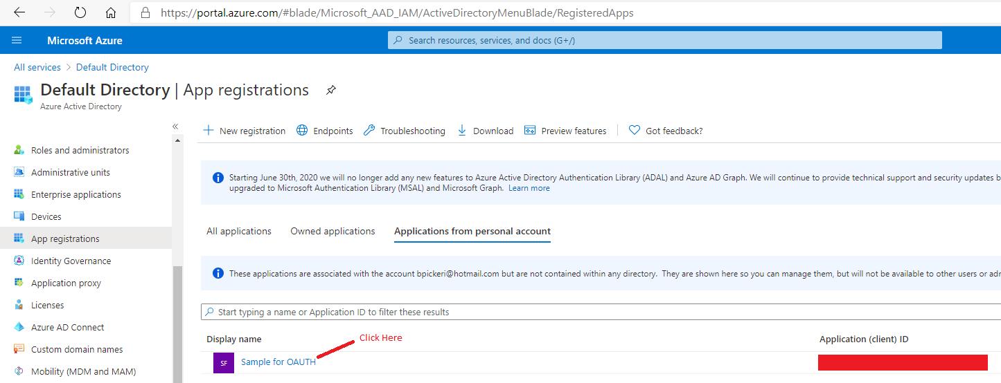 Azure Active Directory - App Registrations