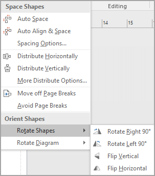 Select Rotate Shapes