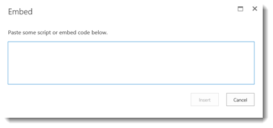Embed Office 365 video code box