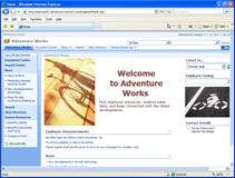 Adventure Works home page