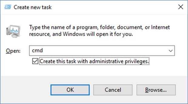 Create a new task in Task Manager
