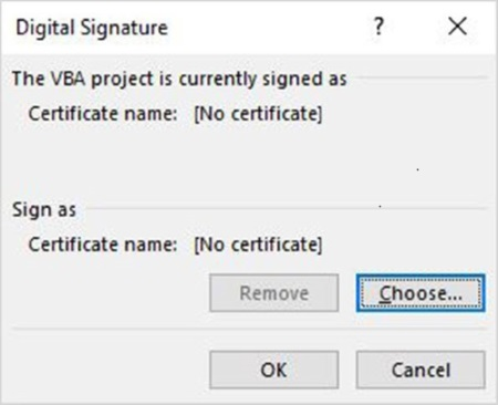 Select a certificate