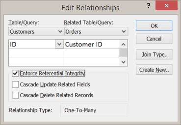 Editing am existing relationship between tables
