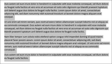 Highlighted paragraphs
