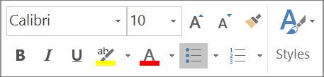 Format Tool bar