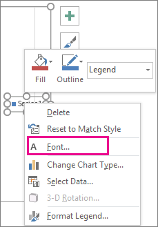 Add and format a chart legend - Office Support